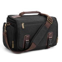 SLR espessadas lona impermeável de homens e mulheres a mochila de sacos de câmara