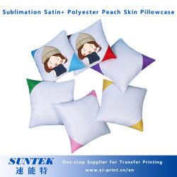 Sublimación Diagonal en blanco funda de almohada (satinado+ de la piel de melocotón de poliéster)