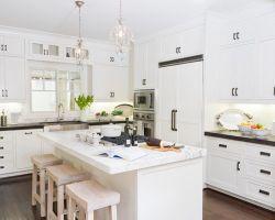 Moderne Modulare Massivholz Küchenschränke Set Designs