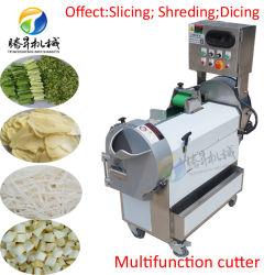 Food Processor Vegetable tranchage et découper en dés trancheuse de manioc de machine automatique de la faucheuse de légumes Slicer les croustilles de légumes de décisions de la machine Machine de découpe (TS-Q118)