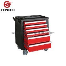 Empuñadura de goma reforzado asas laterales de metal Industrial de Carrito para herramientas