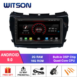 Witson Android 9.0 Quad Core автомобильный радиоприемник проигрыватель для Nissan Murano 2015