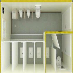 Toletta o stanza da bagno mobile prefabbricata del contenitore con la struttura d'acciaio