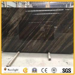 Il legno naturale di lusso del Brown del Quicksand venato il marmo per le lastre/controsoffitti, parete/mattonelle di pavimentazione
