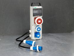L'Audio professionnel zone de distribution d'éclairage 32A 3 rack puissance de phase