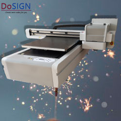 Formato pequeno tamanho A1 6090 LED impressora UV Impressora plana UV Universal para telefone celular caso/Tile/Vidro/frasco