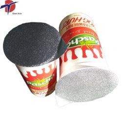 Joghurt-Plastikcup-Folien-Kappen