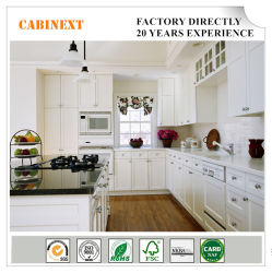 A fábrica American estilo moderno agitador branco a madeira maciça de armários de cozinha
