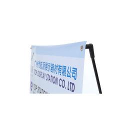 Commerce de gros bon marché en plein air promotionnel INDOOR Fiber bannière du rouleau de métal trépied Horizontal x Stand pour la publicité de bannière