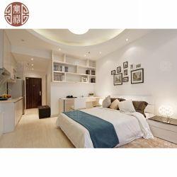 صنع وفقا لطلب الزّبون فندق شقّة مع غرفة نوم يعيش غرفة ومطبخ أثاث لازم من مصنع مباشر