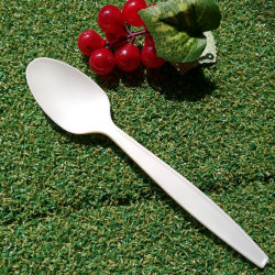GroßhandelsEco freundliche Maisstärke-biodegradierbare Löffel-Wegwerfplastikküchenbedarf