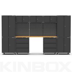 Kinbox 13 pezzi Mobili per garage Mobili contenitori fornitori