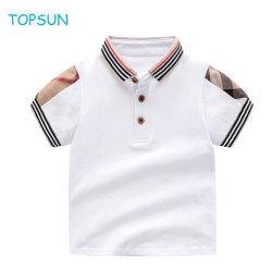 Малышу детей T футболка оптовая торговля детьми белый хлопок летние рубашки поло короткие втулки