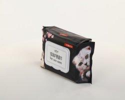 Бамбук Пэт ткани, биоразлагаемой одноразовые собака&Cat уха ртом Paw для влажных салфеток для ПЭТ