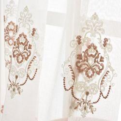 Элегантный экологически безопасные домашний текстиль с одной спальней оформлены шторки вышивка Voile