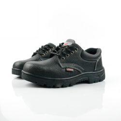La sicurezza d'acciaio di cuoio nera degli uomini della punta dei punti Handmade caric il sistemaare i pattini