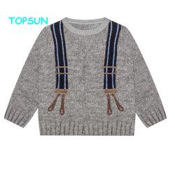 Baby Boy suéter patrones circulares a los niños nuevos diseños de manga larga cuello redondo Pullover ropa