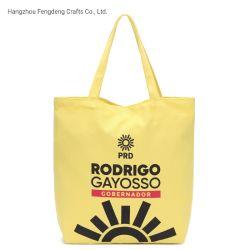 Fengdeng Ecoの黄色い綿のトートバックの柔らかい流行のショッピング・バッグ