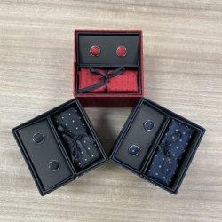 Los hombres tejido Jacquard corbata con caja de regalo