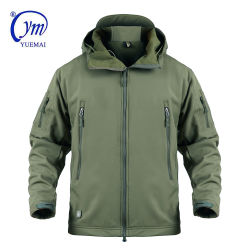 En el exterior de color verde militar Oilve chaqueta impermeable ejército de los hombres chaqueta Softshell
