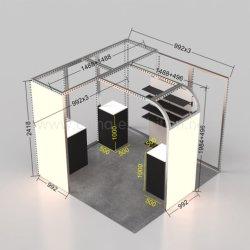 Kundenspezifischer Verkaufs-Messeen-Stand-Entwurf des Aluminiumgewebe-3D heißer