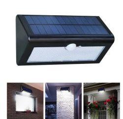 مصباح LED خارجي لحساس الحركة الشمسية ضوء جدار الحماية ضوء الحديقة مع مفتاح الأزرار