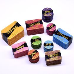 Qualitäts-Kasino-Chip-kundenspezifische Texas-Schürhaken-Chips eingestellt