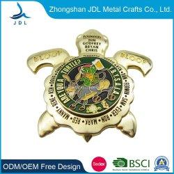 China-Hersteller-Förderung-kundenspezifische Gedenkdecklack-Armee-Marine-spricht altes königliches tadelloses Metallfertigkeit-Antike-Andenken-Goldmilitär silberne Polizei-Herausforderungs-Münze zu