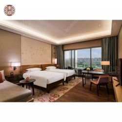 Hôtel disponible MDF de contreplaqué de meubles de chambre à coucher avec lit King Size