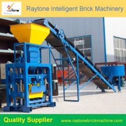 機械を作る機械装置を妨げるために具体的で小さいブロックの煉瓦を舗装するQt40-1空の固体