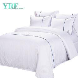 Beste Qualitätskundenspezifische Baumwolle mit Firmenzeichen-Zwilling-weißem Hotel-Leinen