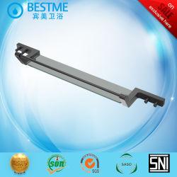 フック付きブラックカラーアルミニウム製のモダンなガラス製棚( BG-L1003K )