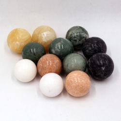 Saúde chinês mármore Medicina Baoding bolas antiestresse com suporte para Stone massagem terapêutica e exercício de mão