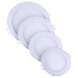 preço de fábrica encastrados 8W 12W 15W 22W LED redondos Slim LED de luz do painel de tecto 18W