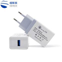 منفذ هاتف محمول محمول محمول محمول 5 فولت 2 أمبير QC3.0 US Plug 3 شاحن محول USB للحائط للسفر