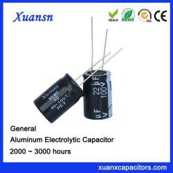 22UF 100Vのアルミニウム電気分解コンデンサー