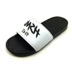Impreso en blanco Mens Playa EVA zapatillas, zapatillas blancas hecho personalizado y EVA sandalias, la marca de calzado de verano de la mens diapositivas EVA zapatillas