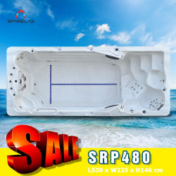 Sparelax Venta caliente sano reforzado Acrylic Swim Spa Piscina bañera spa jacuzzi 5D30