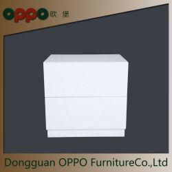 Chevet en bois organisateur/Table de chevet avec tiroir pour chambre à coucher, blanc