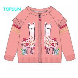 Impresa Outwear infantil de dibujos animados de otoño de las Niñas de poliéster Chaqueta con cremallera rosa