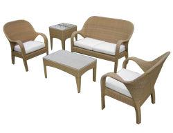 Садовая мебель высокого обратно на открытом воздухе плетеной диван кресло