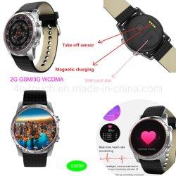 3G WiFi GPS Android Smart montre téléphone portable avec moniteur de fréquence cardiaque Kw99