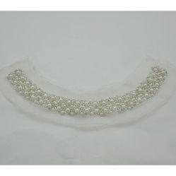 Accessori in rilievo dell'indumento della guarnizione del collo della perla per il vestito