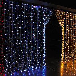 Decoração de Natal no exterior da Cortina de LED para iluminação de casa e jardim