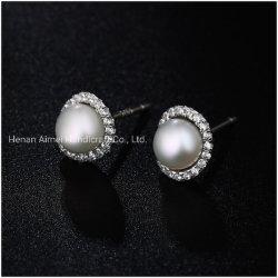 Elegant Zilveren Oor 925 beslaat de Charmante Juwelen van de Oorring van de Parel