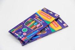 Responsable côté 24 couleurs deux crayons de couleur avec canon rond