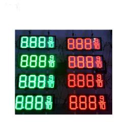 8-889/10 8 بوصة علامة LED لمؤشر LED الأحمر 7 القطاع لأسعار الغاز