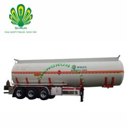 Marché sud-africain Axlesstainless Hot Sale 3 réservoir de carburant de l'acier semi-remorque sans feux de route