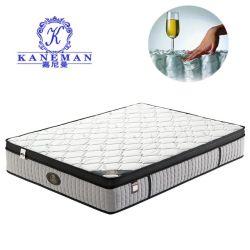 Amazon Venta caliente colchones camas tamaño Queen Euro Top 34cm de la bobina de bolsillo Rollito de primavera colchón