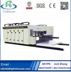 caja de cartón corrugado cartón engranan Die Cutter máquina de impresión